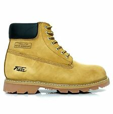 FUDA Men's Nubuck Leather Oil & Water Resistant Work Boots Wheat