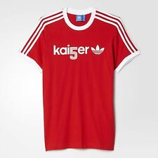 Germany Beckenbauer Kaiser Adidas Originals Shirt Red Jersey Soccer Football