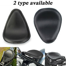Black Synthetic Leather Solo Motorcycle Seat for Harley Chopper Bobber Sportster
