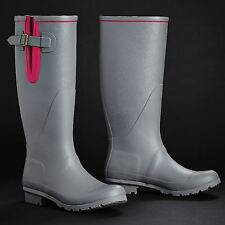 Harry Hall Brinsworth Wellington Boots Womens Charcoal Rubber Wellies Gumboots