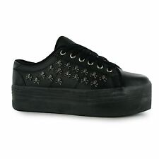 Jeffrey Campbell Play zOMG Skull Platform Shoes Womens Blk/Pewt Trainers Sneaker