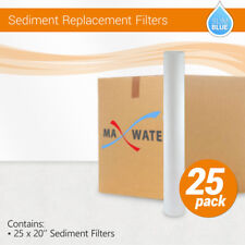 """(25) 20""""x2.5""""  Whole House Sediment Water Filter Cartridge, 1 or 5 Micron"""