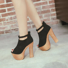 women Super-High Heel Platform Shoes sexy boots sandals, US3.5-8.5(EUR34-39)SA80