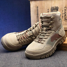 Tactical Comfort Leather Military Ankle Boots Army Commando Tactical Hiking Boot