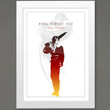 Final Fantasy VIII 8 Poster, Squall Leonhart Print, FF8 Video Game, Squall Print