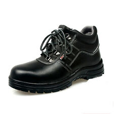 Steel Toe Safety Shoes Work Boots Black Leather Trainers Hikers Anti-Static Boot