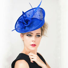 Charms Lady Vintage Feather Fascinator Clip Hat Church Wedding Kentucky Derby