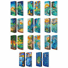 OFFICIAL DREW BROPHY SURF ART 2 LEATHER BOOK WALLET CASE COVER FOR LG PHONES 1