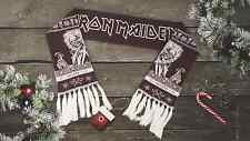 Iron Maiden heavy metal band fans knitted scarf 50% wool in stock FREESHIPPING