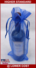 """6~ 6x15""""  Organza Fabric Wine Bottle Bag Party Wedding Favor Gift Packaging"""