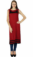 Bollywood Kurta Indian Designer Women Casual Ethnic Kurti Cotton Top Tunic Dress