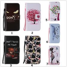For iPhone Huawei LG Lanyard Stand Slot Wallet Leather + TPU Hybrid Case Cover