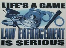Police Hoodie Lifes A Game Law Enforcement Is Serious America's Finest 911 Badge