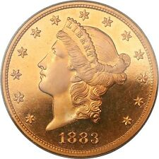 1883 $20 PCGS PR-65 DCAM Proof Liberty Double Eagle Gold Coin Deep Cameo *RARE*