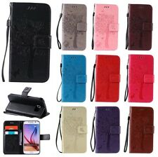 Cat&Tree Flip Stand Hybrid Lanyard Wallet Leather Case TPU Cover For iPhone Sony