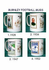 BURNLEY.RETRO FOOTBALL PROGRAMME MUGS.4 DESIGNS.NEW.BNIB
