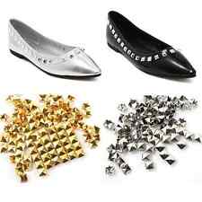 100X DIY Square Pyramid Rivet Metal Studs Spikes Punk Leathercraft Shoes Belt