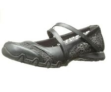 49224 Pewter Skechers Shoes Memory Foam Women Lace Casual Bikers Strap Black New