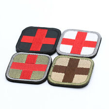 New Red Cross Medical 3D Embroidery Patch Armband Velcro Props Fabric Patches 1x