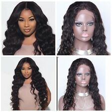100% Brazilian Virgin Human Hair Silky Curly Wave Lace/Full Front LACE Human Wig