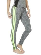 New Womens Colour Stripped Elasticated Waist Jogging Bottoms Size 10 16