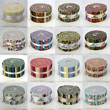 """40 Jelly Roll Strips - 100% Cotton Patchwork Craft Quilting Fabric 2.5"""" x 44"""""""