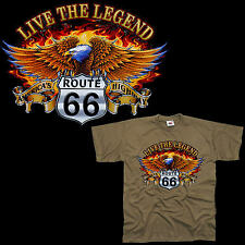 Eagle Biker Adler Route 66 T-Shirt 4307