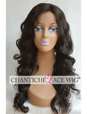 Silk Base Human Hair Lace Front Wigs African Americans Brazilian Remy Body Wave