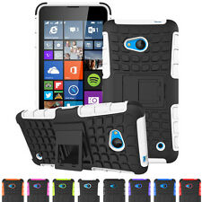 Shockproof Hybrid Rubber Protective Stand Hard Case Cover For Nokia Lumia Model