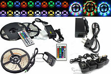 12V DC 5M SMD 3528 5630 5050 3014 300LEDs RGB White LED Strip Light Power Supply