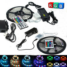 5M 3528 5050 5630 SMD 300Leds Flexible LED Strip Light Power Supply+DC+24/44key