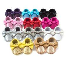 Baby Fashion Soft Sole Leather Comfort Shoes Toddler Boys Girls Sequins Moccasin