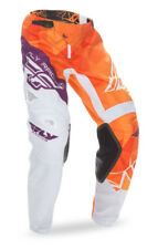 Fly Racing Orange/Purple/White Mens & Youth Kinetic Crux Dirt Bike Pants MX ATV