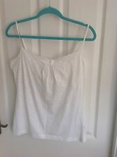 Ladies Fat Face White Vest Top With Support Size 14