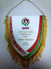 Belarus v Spain Ukraine & other... handed over in the field RARE captain pennant