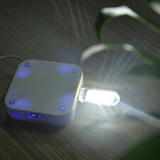 Portable Bright 3 LED Night Light USB Lamp for PC Laptop Reading White/Warm
