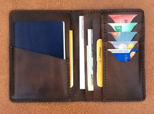 Personalized Hand Made Genuine Leather Passport All IN ONE Wallet