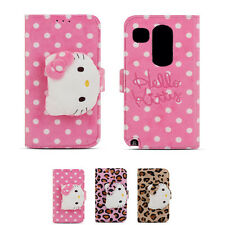 Hello Kitty Rag Doll Plush Button Card Wallet Cover Case For LG Google Nexus 5X