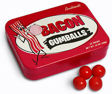 ACCOUTREMENTS BACON GUMBALLS 22 PIECE BUBBLE CHEWING GUM CANDY TIN NOVELTY GIFT