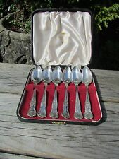 KINGS PATTERN SET OF SILVER PLATE GRAPEFRUIT SPOONS BY VINERS OF SHEFFIELD 1930