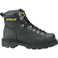 "Caterpillar ALASKA FX ST Womens Black 6"" STEEL TOE Oil Resistant Work Boots"