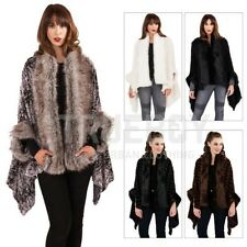 Boutique Womens Faux Fur Cape Ladies Luxuriously Super Soft Thick Wrap Coat