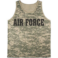 US Air Force tank top digital camo shirt usaf United States Air Force tee shirt