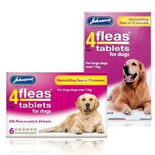 Johnsons 4Fleas Tablets For Large Dogs. Dogs Over 11kg 3 & 6 Pack Treatment Star