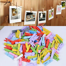 50pcs Mini-Wood Clothespins Laundry Photo Paper Peg Clip Clothes Pins Art Crafts