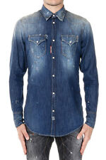 DSQUARED2 Man Destroyed Denim Shirt  Made in Italy New with Tags and Original