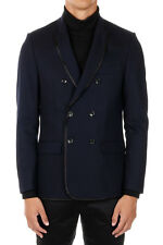 DEPARTMENT 5 New Men Blue Wool Blend Jacket Blazer Made in Italy NWT