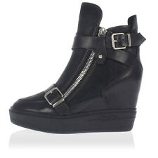 ASH new women leather Wedge ankle Boots mod AROMA with lateral zip