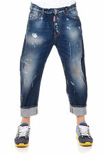 DSQUARED2 Dsquared² New Men Blue Denim Pants Jeans  BIG DEAN'S  Made Italy NWT