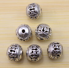 10/20/50 pcs Very lucky beautiful beads Tibet silver interval beads 10x10 mm